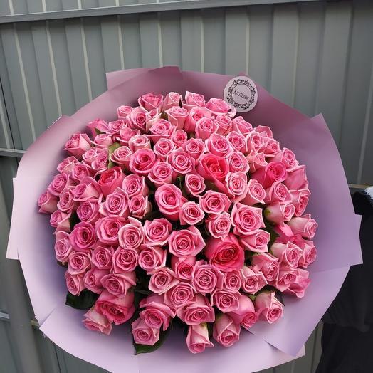 101 роза Аква: букеты цветов на заказ Flowwow