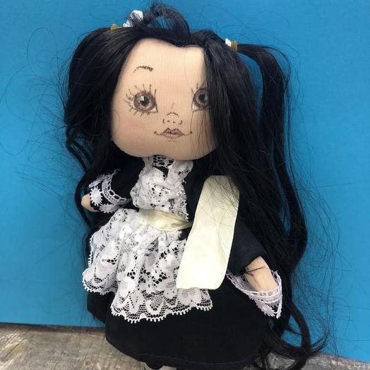 Кукла-школьница ручной работы