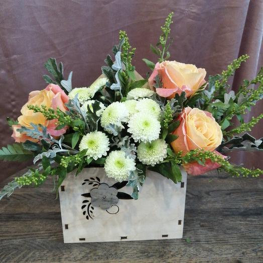 Цветочное послание в конверте: букеты цветов на заказ Flowwow