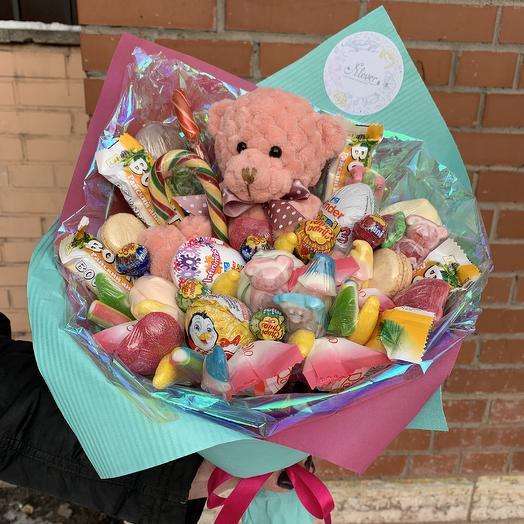 Букет Мишка: букеты цветов на заказ Flowwow