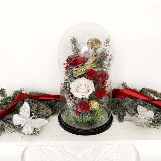 """Новогодняя композиция """"Когда часы 12 бьют"""": букеты цветов на заказ Flowwow"""