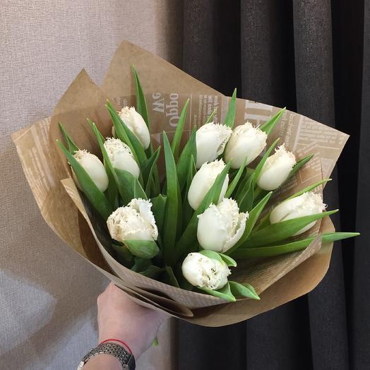 Махровые тюльпаны: букеты цветов на заказ Flowwow