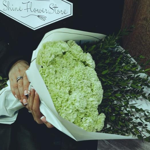 Зефирная гвоздика: букеты цветов на заказ Flowwow