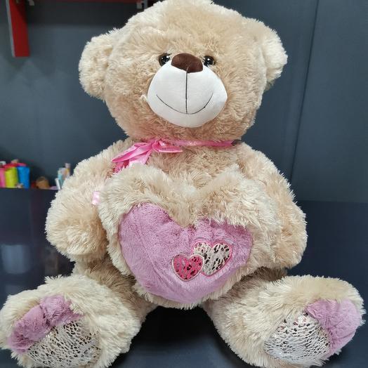Медведь фиолетово сердце