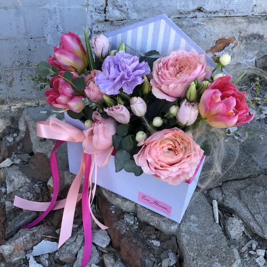 Послание в конверте: букеты цветов на заказ Flowwow