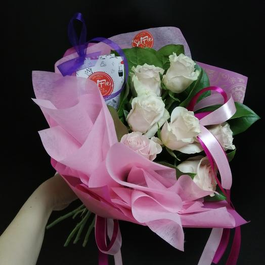 Розовое суфле: букеты цветов на заказ Flowwow