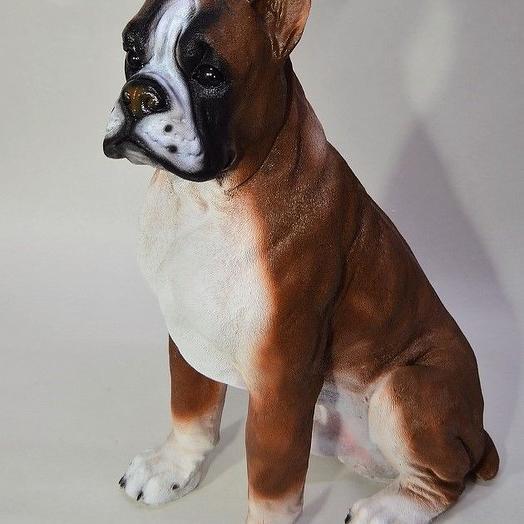 Фигура Собака боксер, h67 см, полистоун, W63-1: букеты цветов на заказ Flowwow