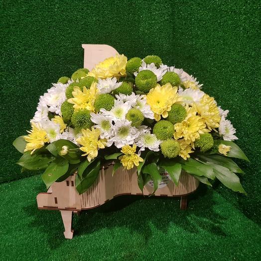 Рояль с цветами- большой: букеты цветов на заказ Flowwow