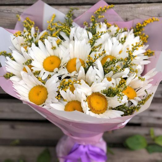 Букет из 19 ромашек: букеты цветов на заказ Flowwow