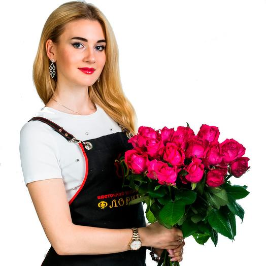 15 бордовых роз: букеты цветов на заказ Flowwow