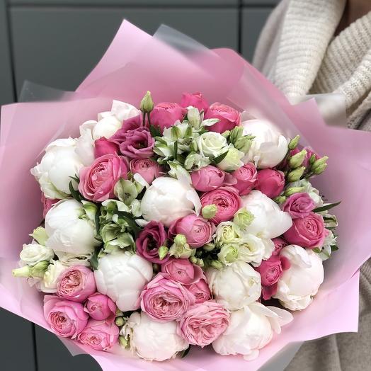 A bouquet of peony Heartbeat