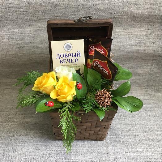 Сладкий сундучок 🌹: букеты цветов на заказ Flowwow