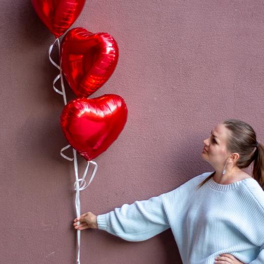 Набор шаров Красное Сердце
