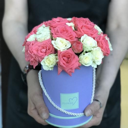Коробочка с кустовой розой