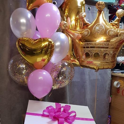 Набор шаров в большой коробке