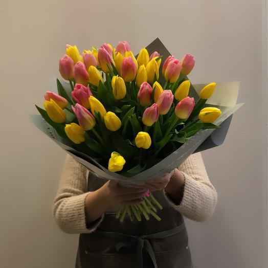 Микс из тюльпанов