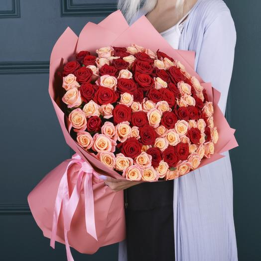 101 Микс (розы Premium 50см)