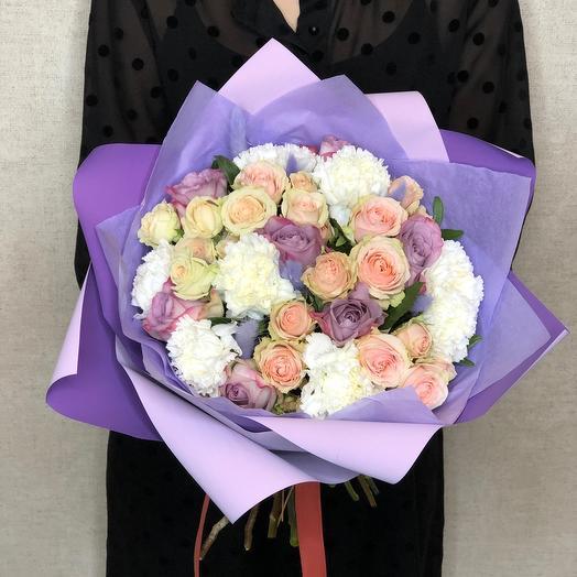 Букет «Нежный» с розами