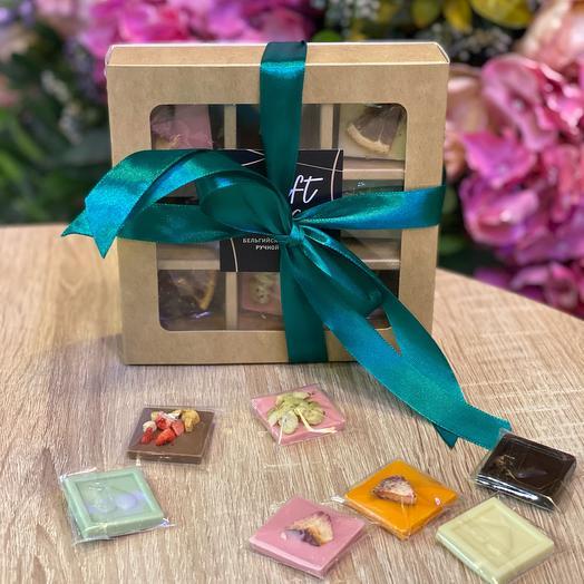 Ассорти мини-плиток бельгийского шоколада