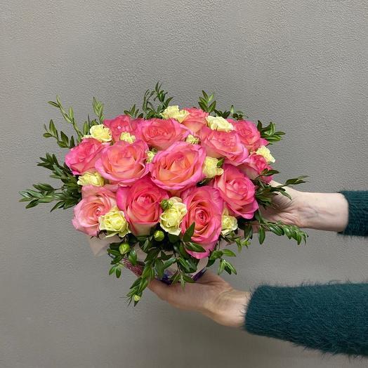 Цветы в коробке «Сердце»