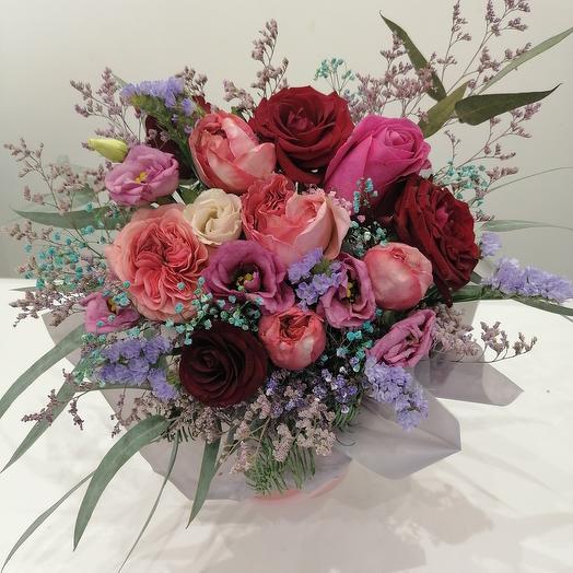 """Цветы в коробке""""с любовью"""""""