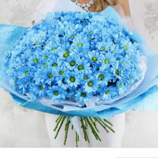 Голубые ромашки