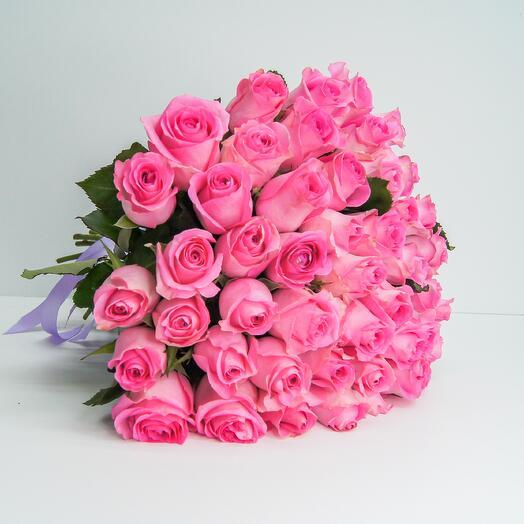 Букет из 51 розовых роз (40см)