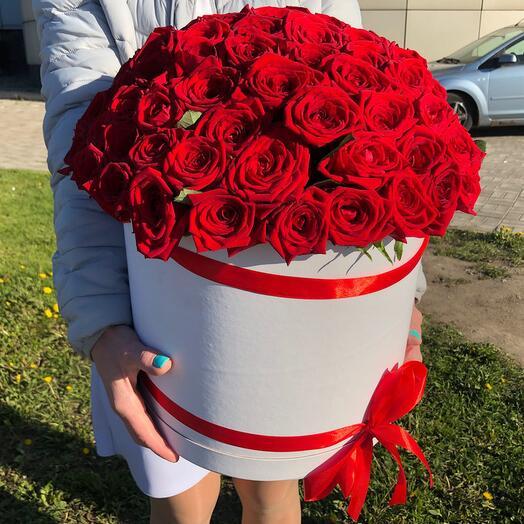101 роза шляпная коробка