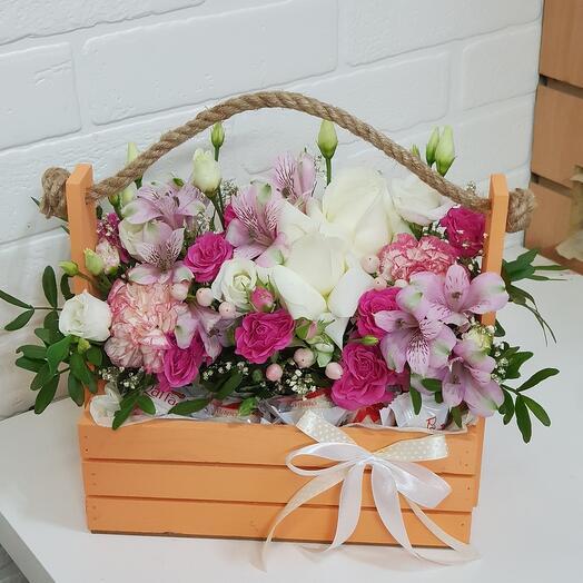 50/50 -цветы/рафаэлло