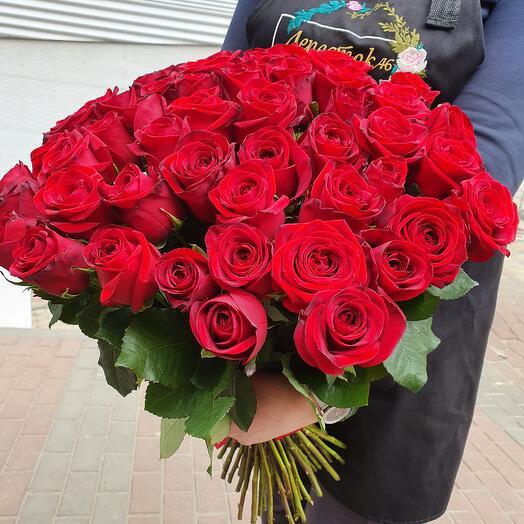 Букет Красных Роз - 51шт