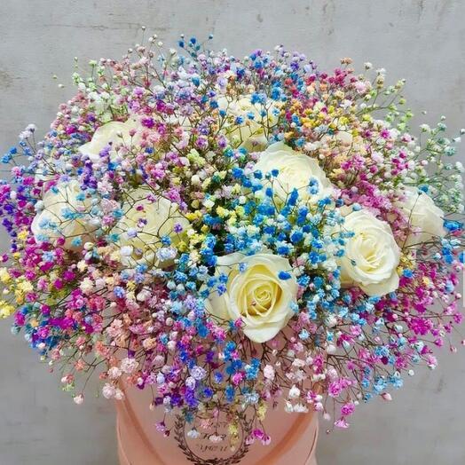 Цветы в коробке «Необыкновенная»