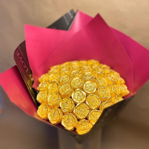 Букет роз из Бельгийского премиум шоколада