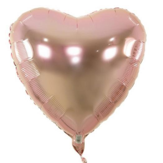 Шар фольга розовое Сердце