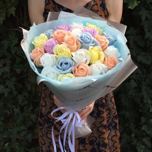 Букет мыльных роз 😌