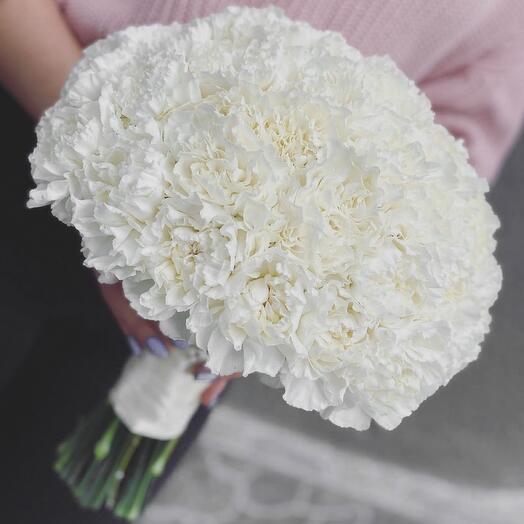 Букет невесты Luxury Flowers Белая гвоздика