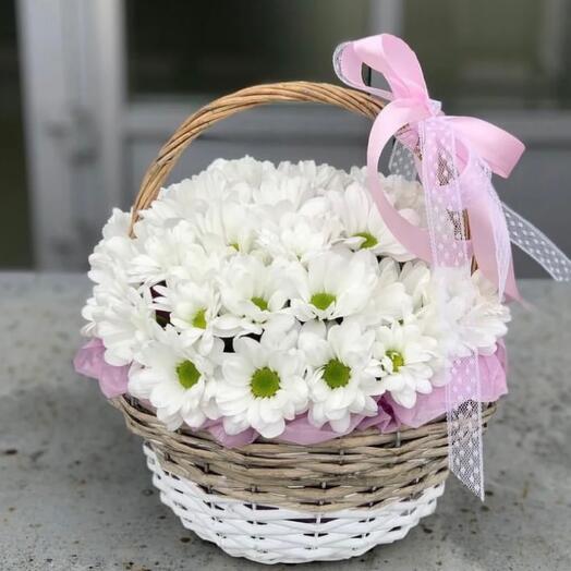 Корзина с цветами 💞