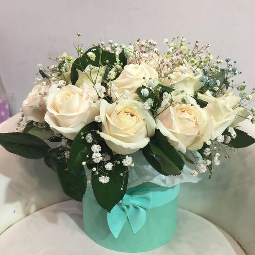 Цветы в коробке Тиффани