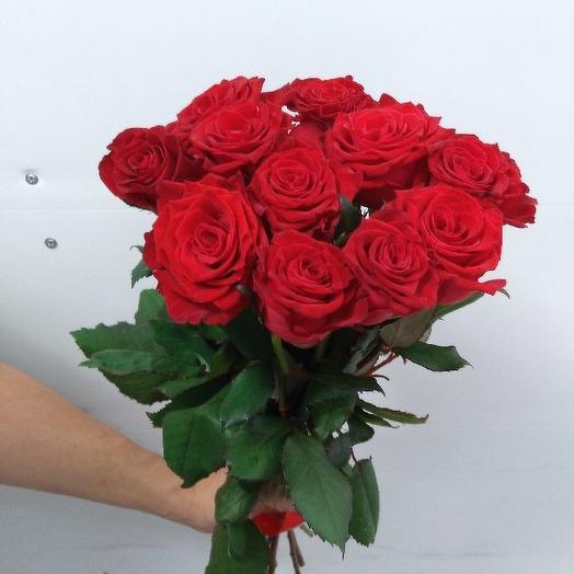Букет из 10 красных роз 50 см: букеты цветов на заказ Flowwow