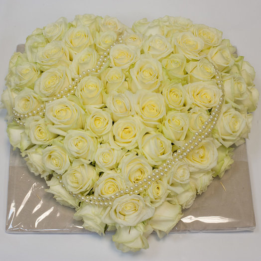 Сердце из роз Абсолютная нежность