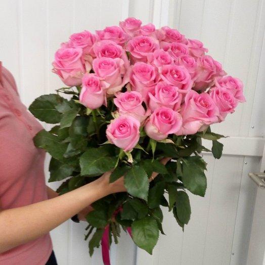 Шикарный букет из розовых роз