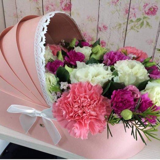 Люлька для девочки: букеты цветов на заказ Flowwow