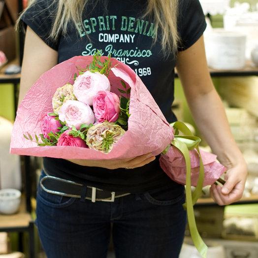 Букет цветов Пионовидная роза: букеты цветов на заказ Flowwow