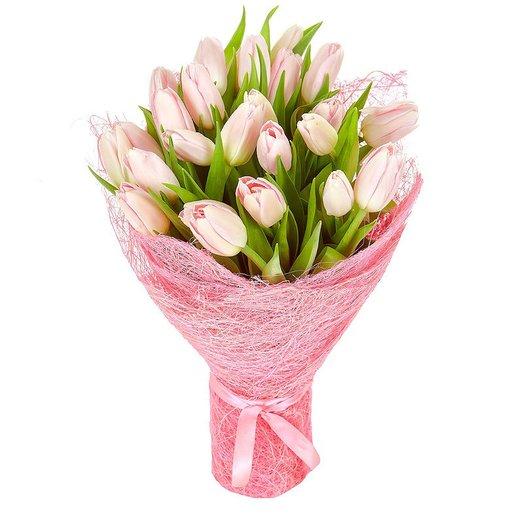 """Букет розовых тюльпанов """"Ранняя весна"""": букеты цветов на заказ Flowwow"""