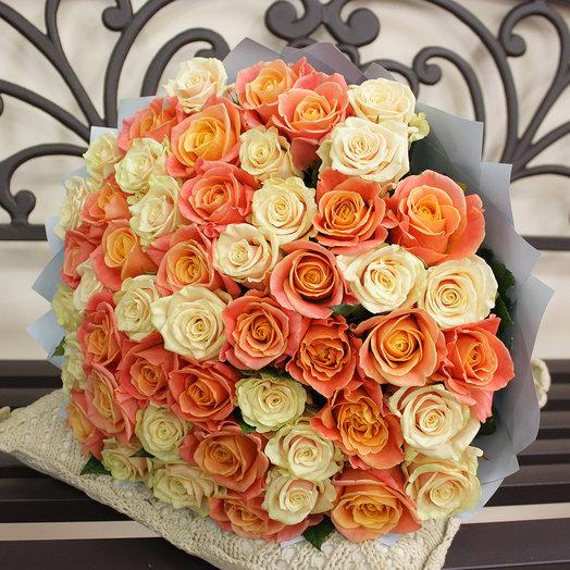 "Букет ""Мэрил"" (51 роза 50 см.): букеты цветов на заказ Flowwow"