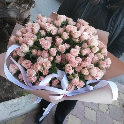 Большой букет из чайных роз: букеты цветов на заказ Flowwow