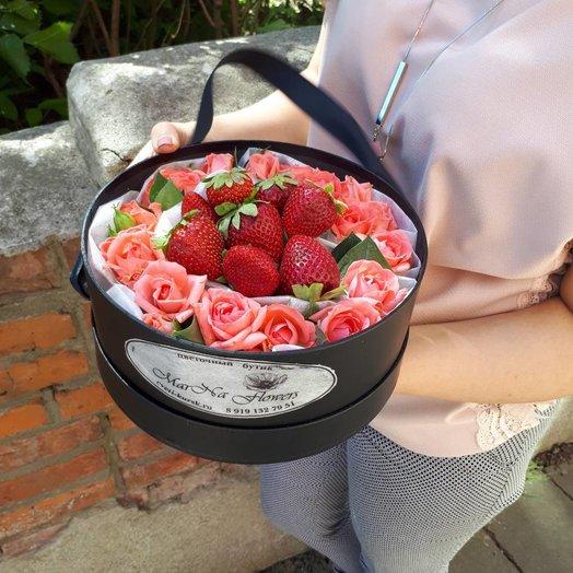 Клубничный набор: букеты цветов на заказ Flowwow