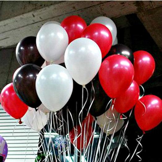 "Облако 35 шаров ""Джентльмен"": букеты цветов на заказ Flowwow"