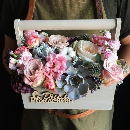 Ящик с цветами ! : букеты цветов на заказ Flowwow