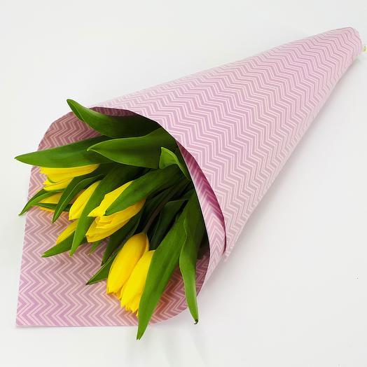 Солнечный кулёк: букеты цветов на заказ Flowwow