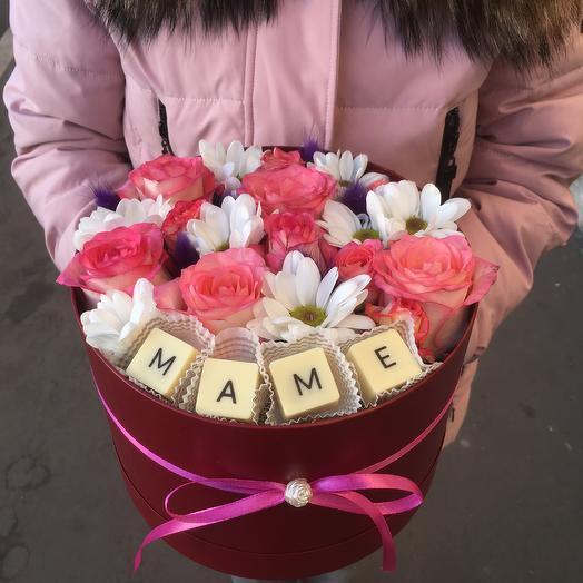 """Фламинго """"Маме"""": букеты цветов на заказ Flowwow"""
